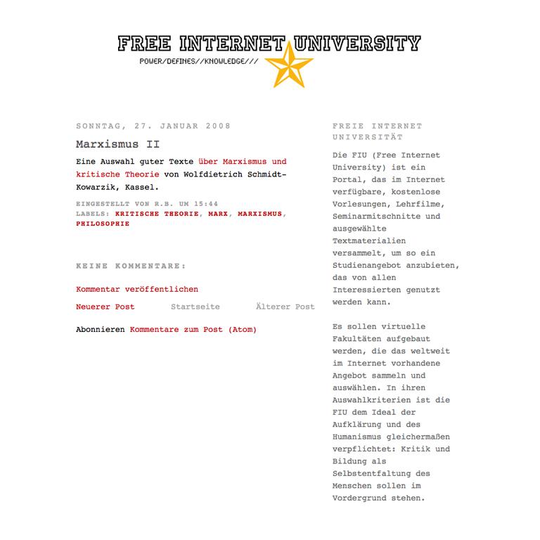 Free Internet University