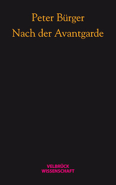 cover_bürger_avantgarde